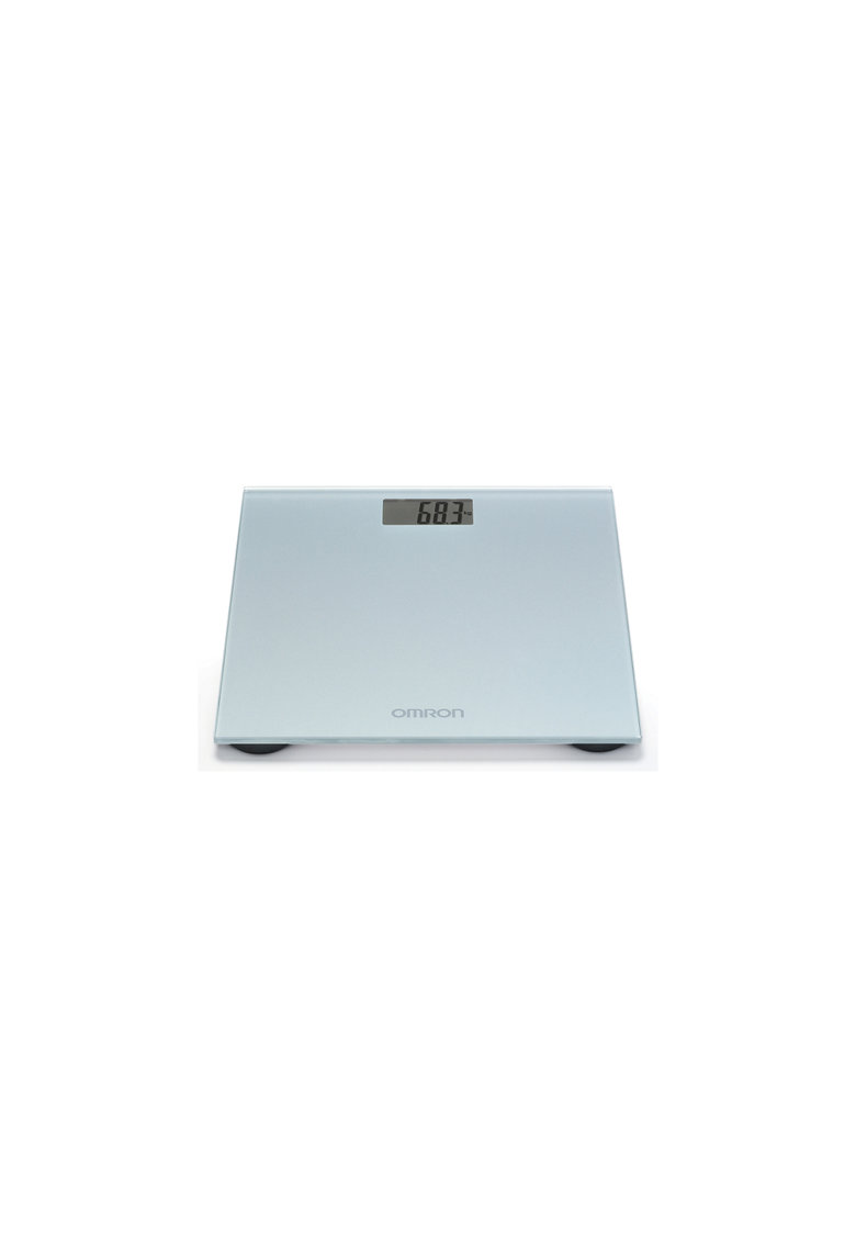 Cantar super slim HN-289-E - 150 kg - Sticla securizata - Display LCD - pentru adulti si bebelusi - Gri