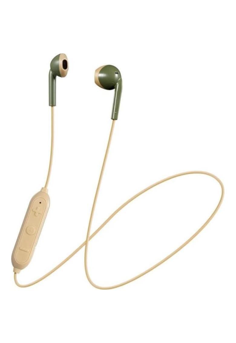 Casti in ear - Retro ear buds - Bluetooth - Verde fashiondays.ro