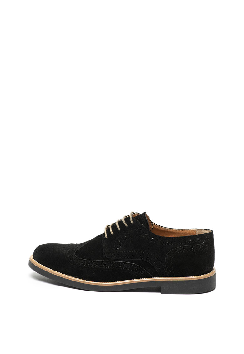 Pantofi brogue de piele intoarsa de la Zee Lane