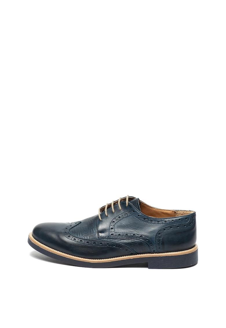 Pantofi brogue de piele cu detalii texturate de la Zee Lane