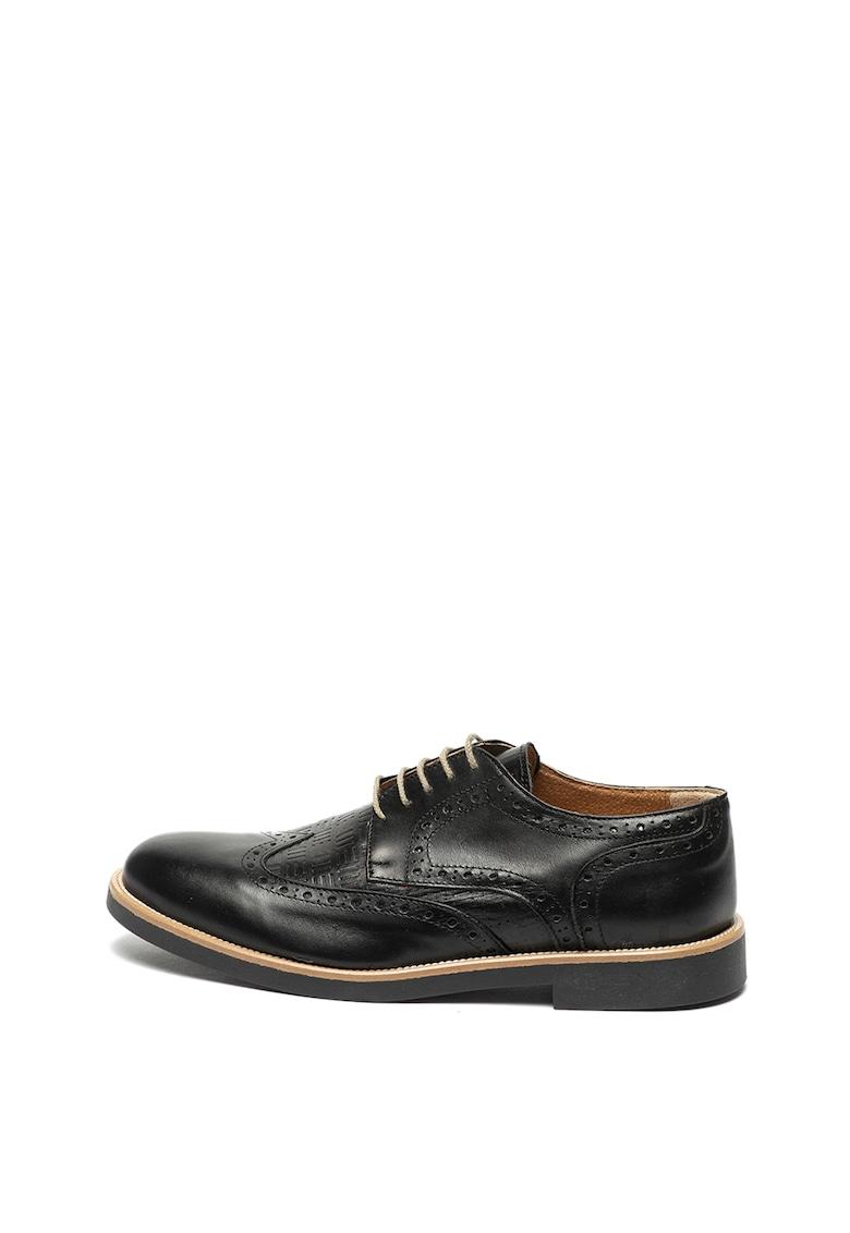 Pantofi brogue de piele cu detalii texturate