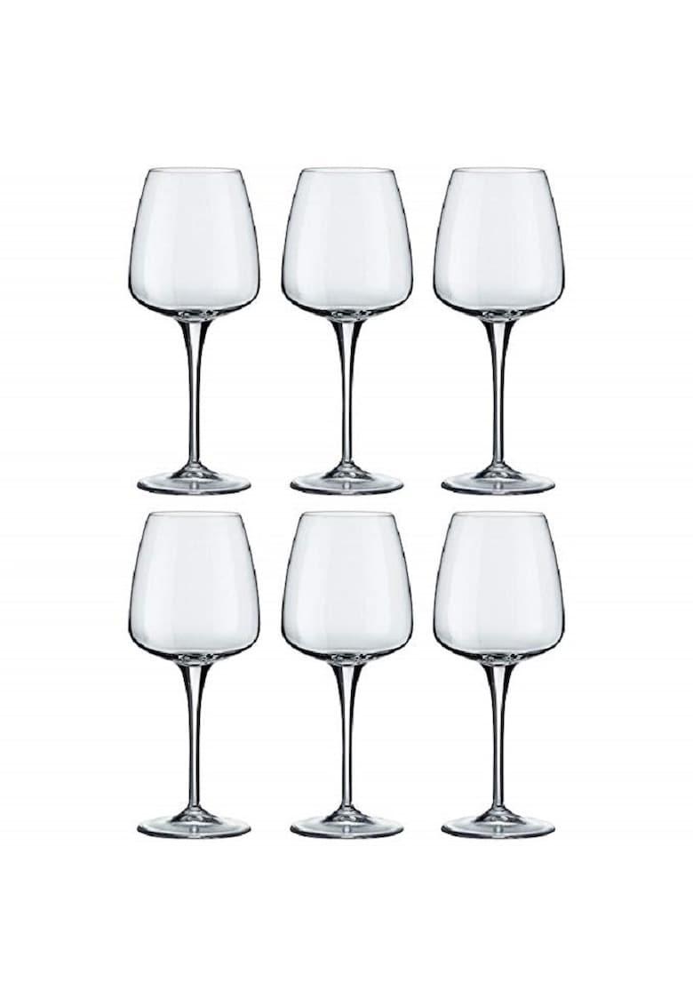 Set 6 pahare cu picior Aurum - sticla cristalina imagine fashiondays.ro 2021