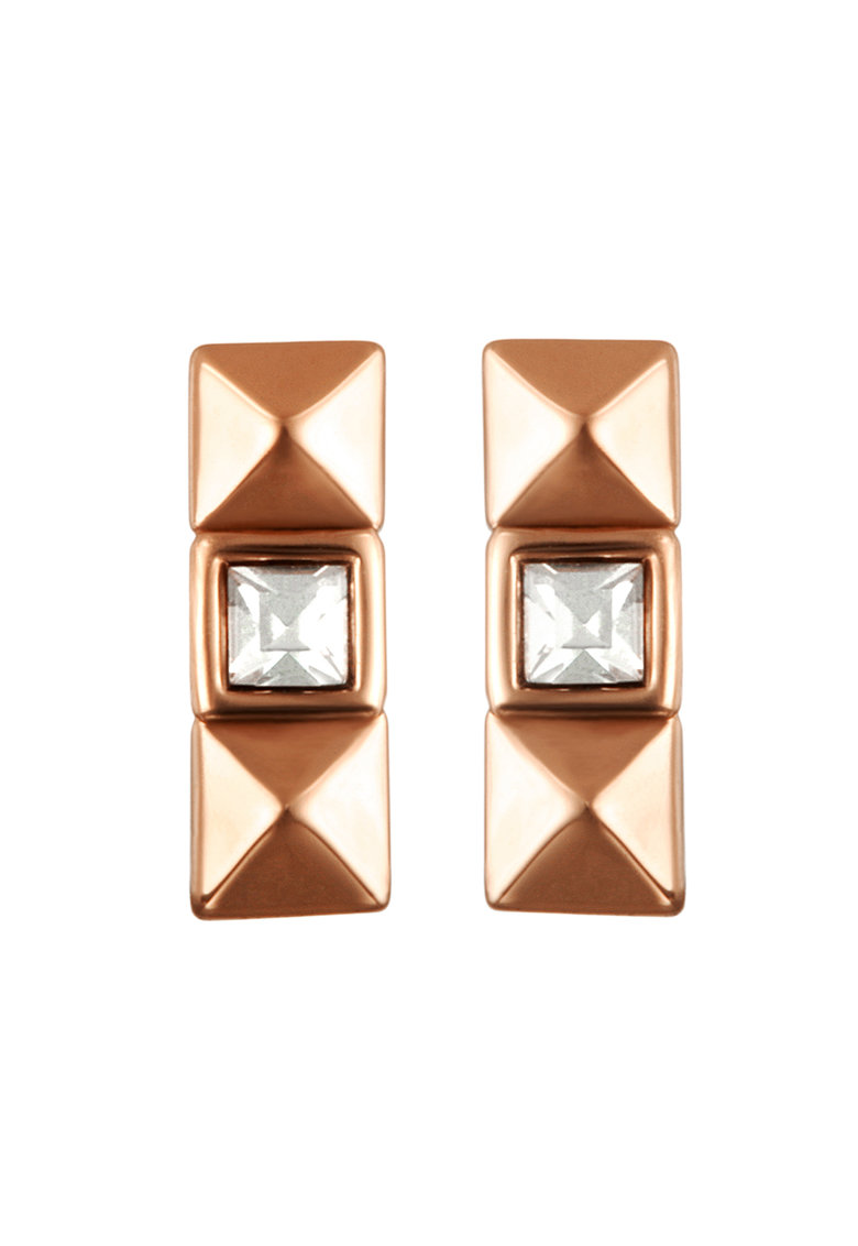 Karl Lagerfeld Cercei decorati cu cristale Swarovski - placati cu aur rose