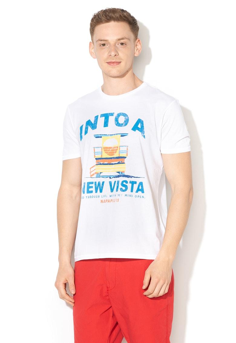 Tricou cu imprimeu text Sarja