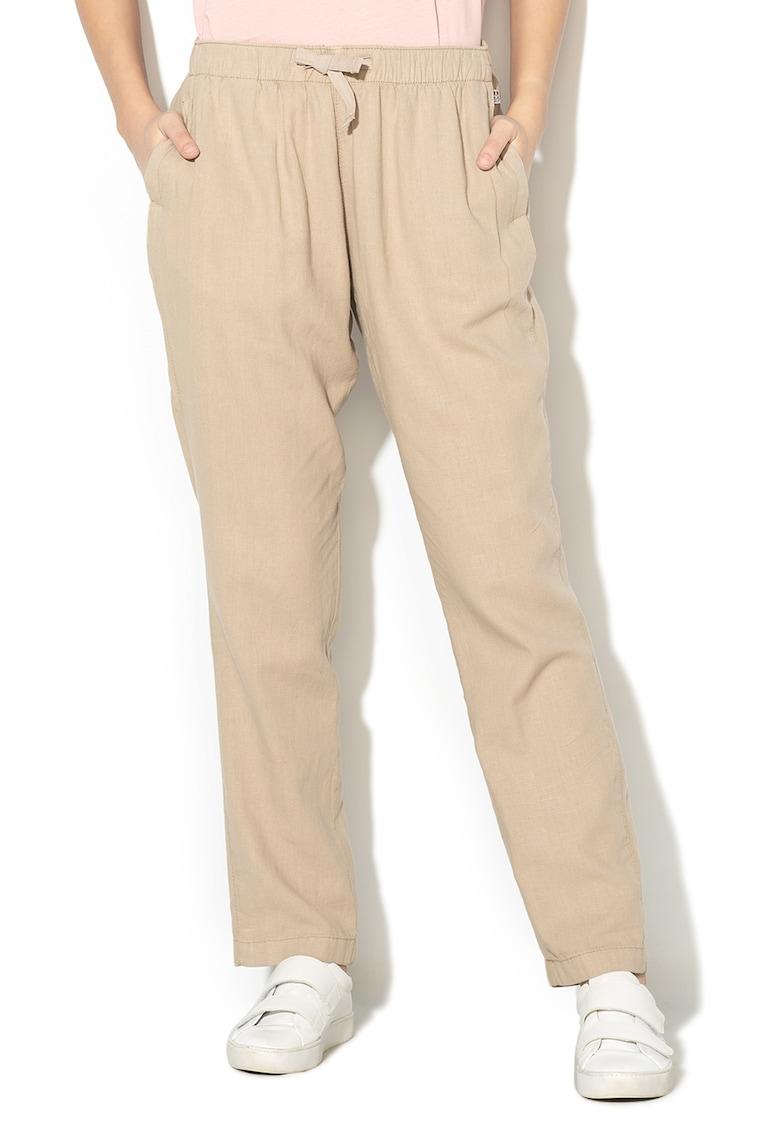 Pantaloni din amestec de in - cu snur Milbank