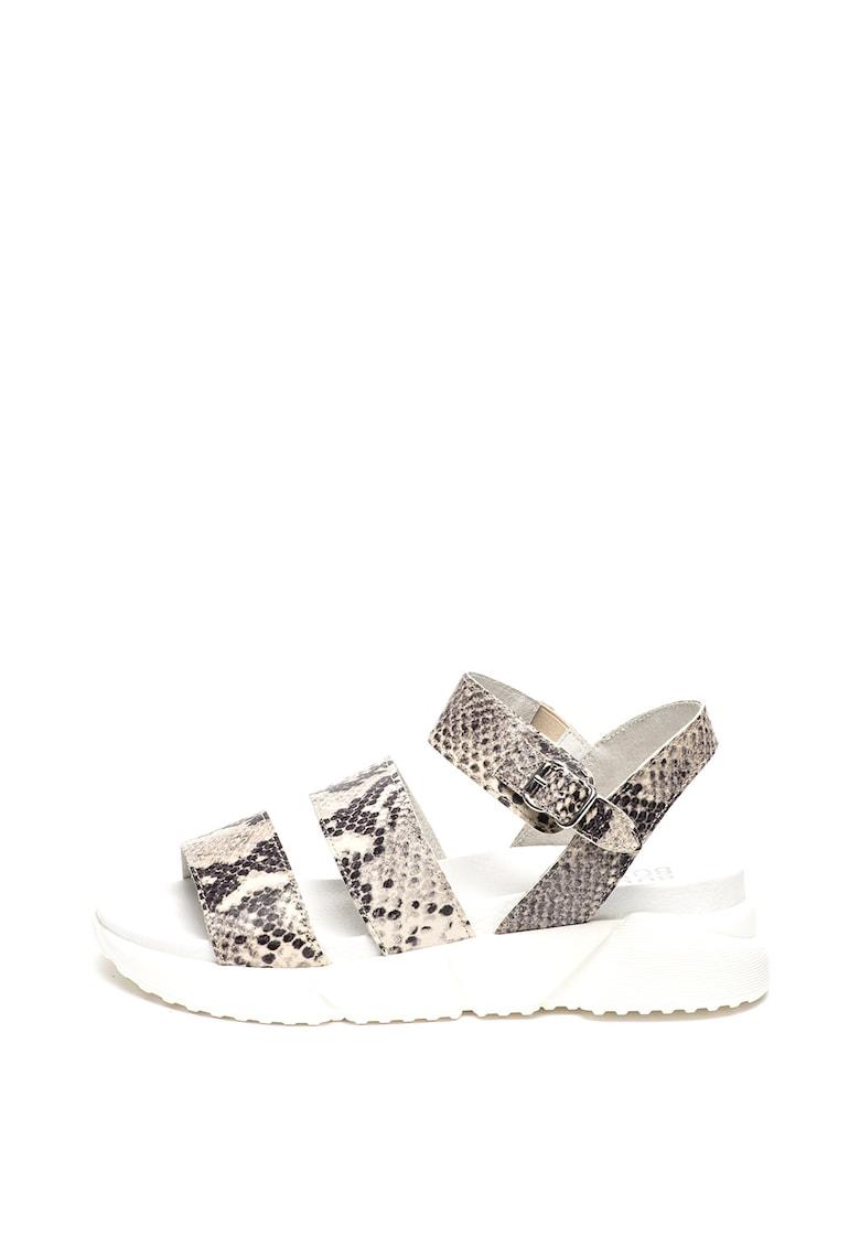 Sandale wedge de piele poza fashiondays
