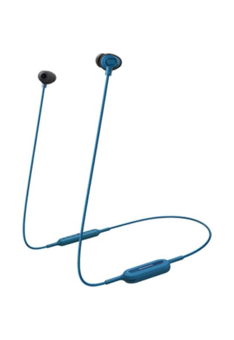 Casti Bluetooth in ear - sunet dinamic - bas amplificat si puternic XBS - telecomanda subtire cu microfon - autonomie 6h - incarcare rapida - albastru