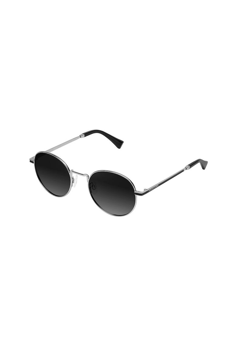 Ochelari de soare rotunzi unisex cu rama din otel inoxidabil imagine fashiondays.ro Hawkers