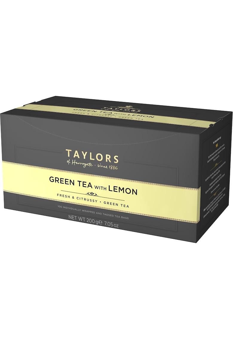 Ceai Verde cu Lamaie - 100 pliculete ambalate individual - 200 gr. imagine