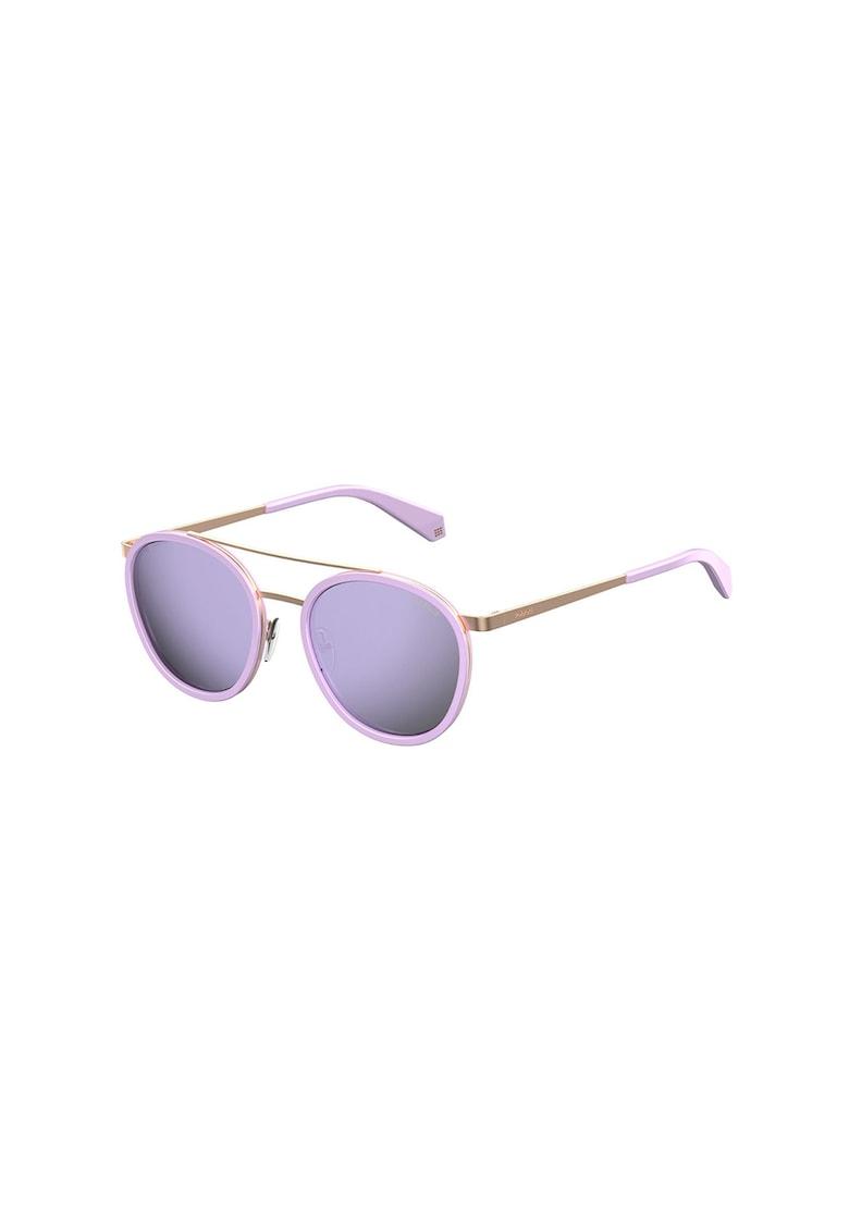 Ochelari de soare rotunzi unisex cu lentile ultrapolarizate imagine fashiondays.ro Polaroid