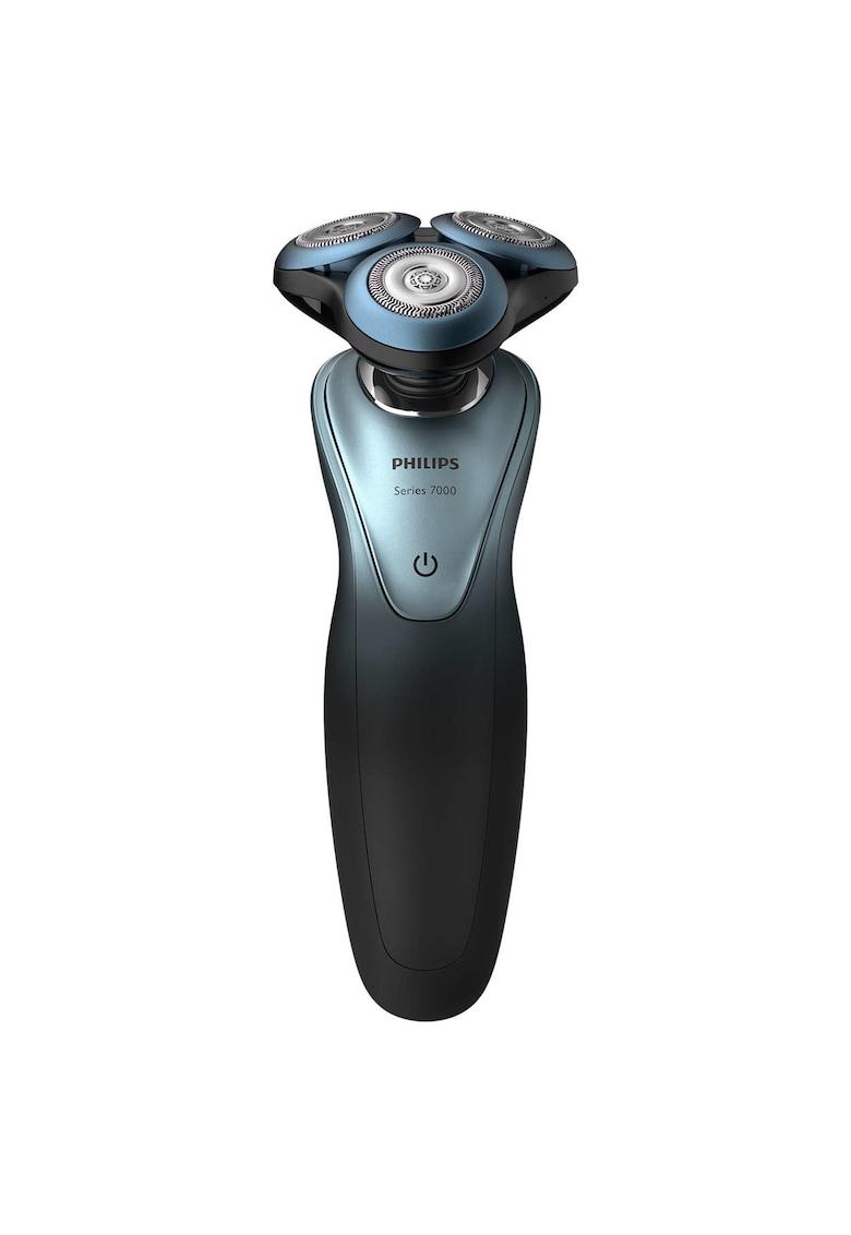 Philips Aparat de ras  /16 - umed & uscat - aplicatie GroomTribe - senzor de adaptare la barba - lame GentlePrecision - accesoriu SmartClick - husa - Negru