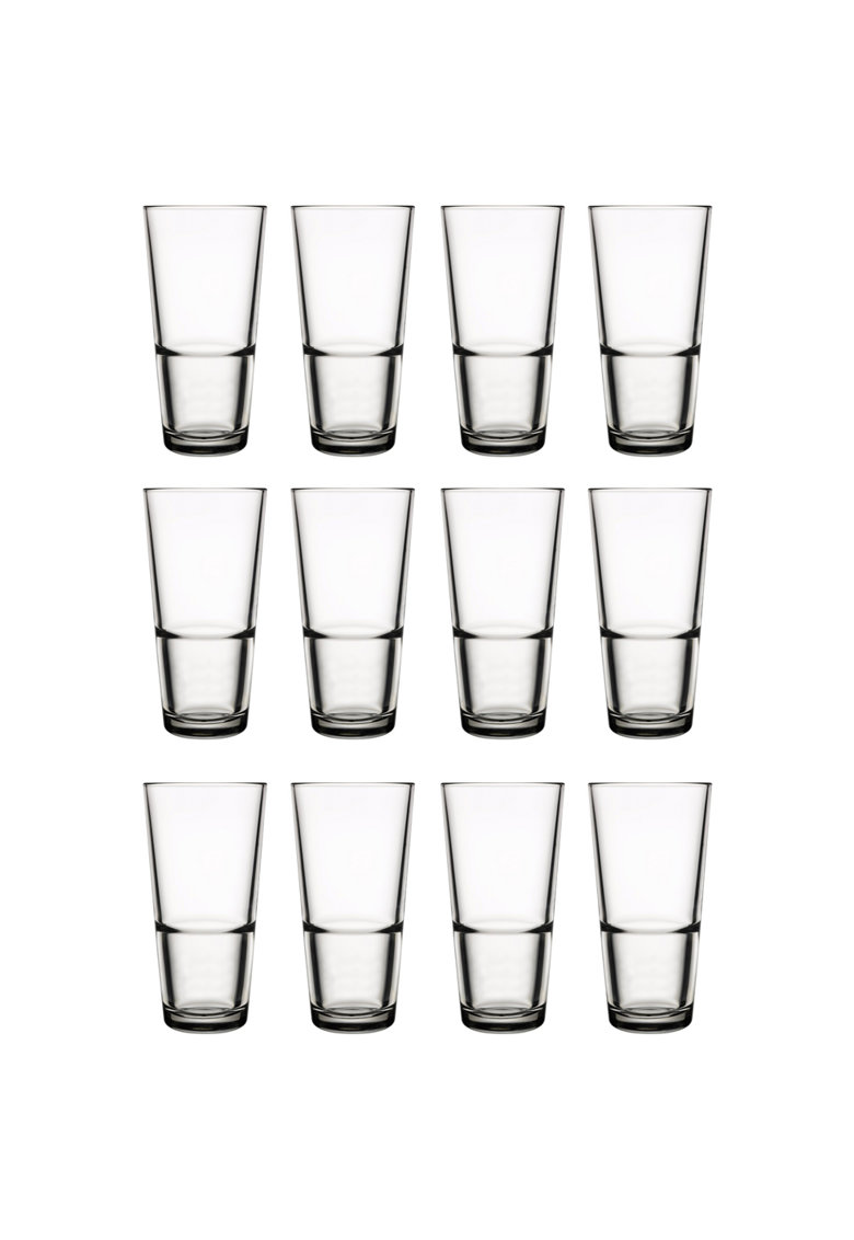 Pasabahce Set pahare long drink -  Grande - 12 piese - 376 ml de la FashionDays.ro