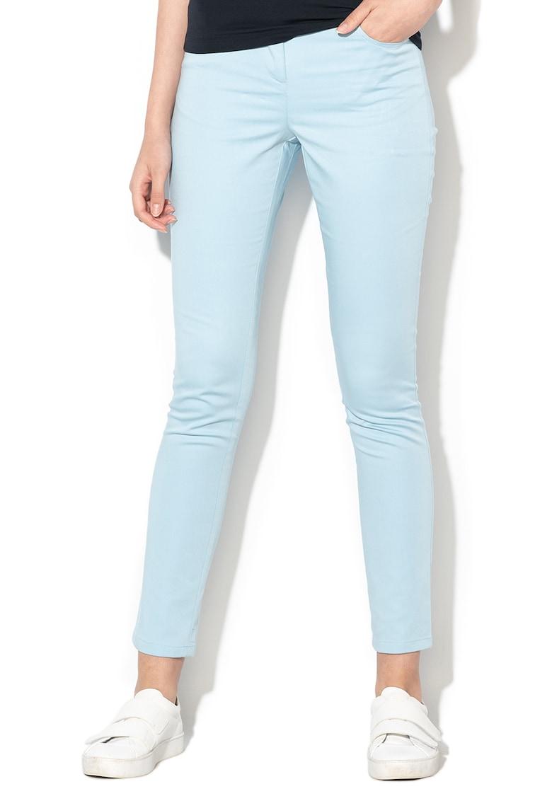Pantaloni crop din amestec de modal