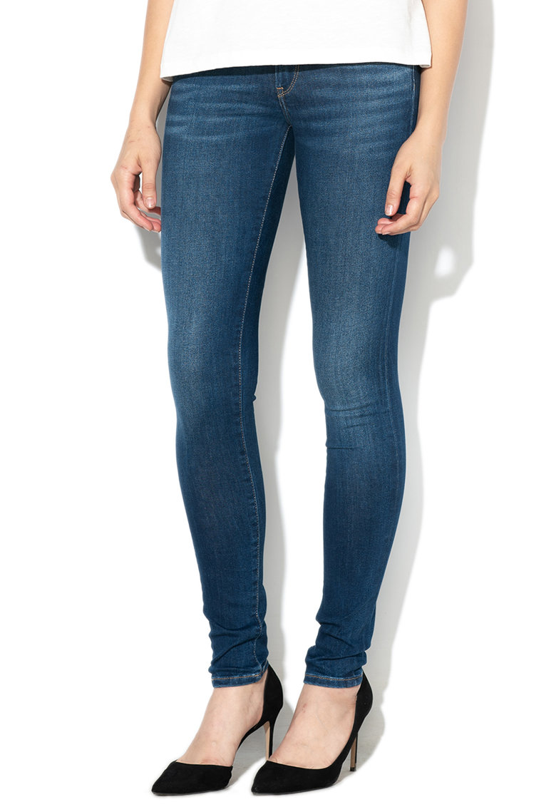 Pepe Jeans London Blugi skinny cu aspect decolorat Pixie