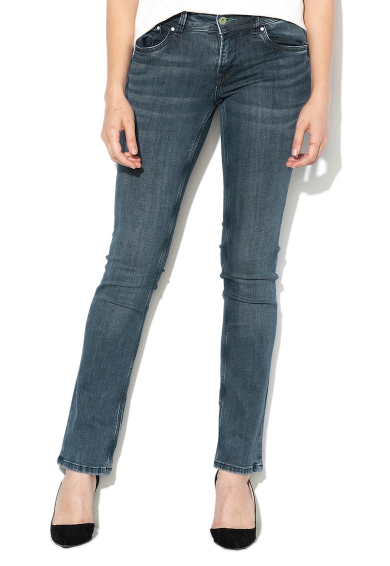 Blugi cu croiala dreapta si talie medie Saturn de la Pepe Jeans London