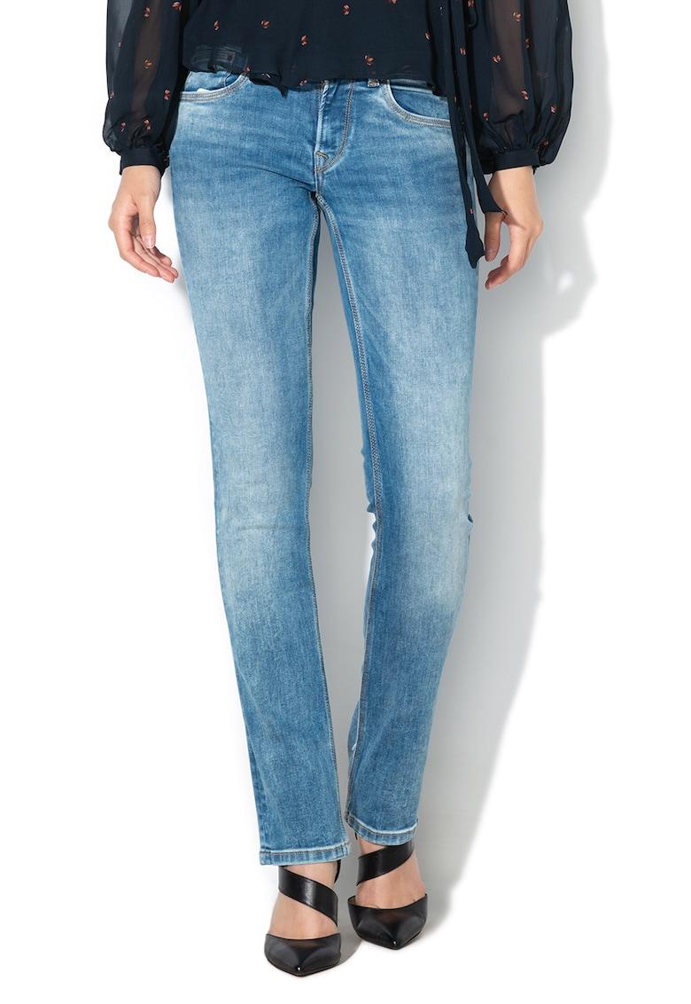 Blugi drepti cu talie medie Saturn de la Pepe Jeans London