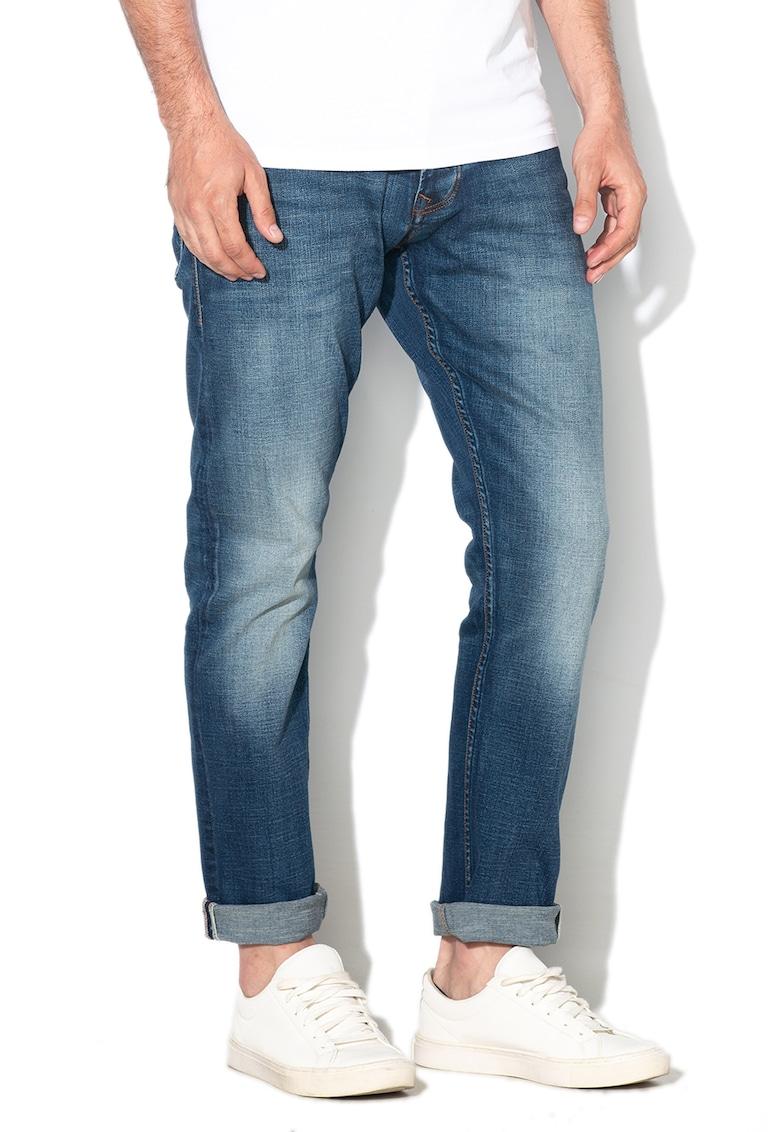 Blugi regular fit cu aspect decolorat Cash de la Pepe Jeans London