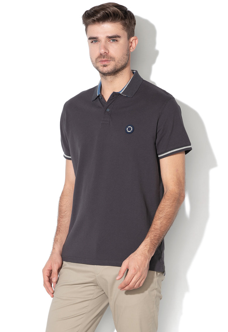 Tricou polo regular fit cu aplicatie logo Terence Pepe Jeans London