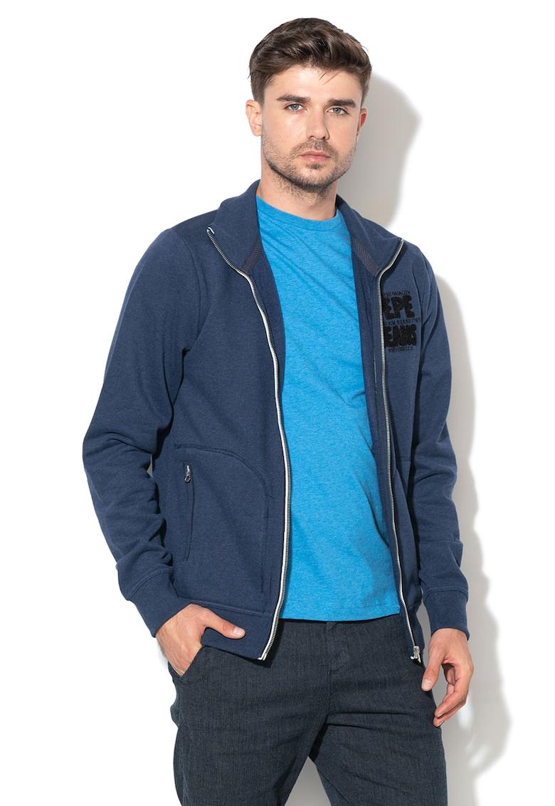 Bluza sport cu fermoar si captuseala din fleece Tristam de la Pepe Jeans London