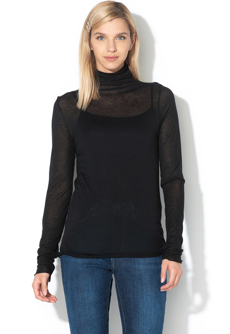 Bluza din amestec de micromodal Dua Lipa x Pepe Jeans Aida