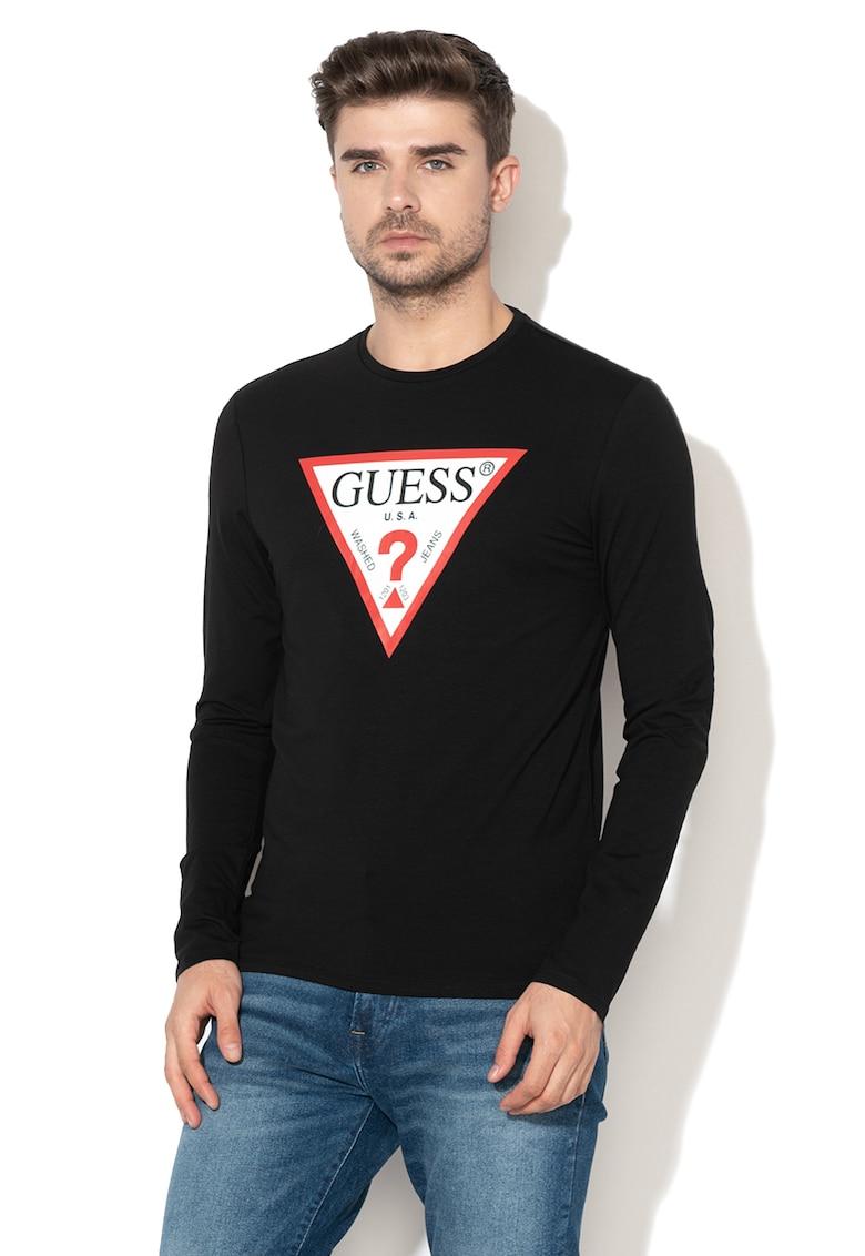 Bluza slim fit cu imprimeu logo