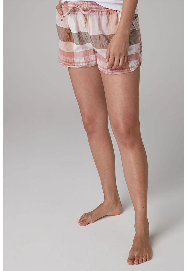 Pantaloni scurti de casa - cu model in carouri