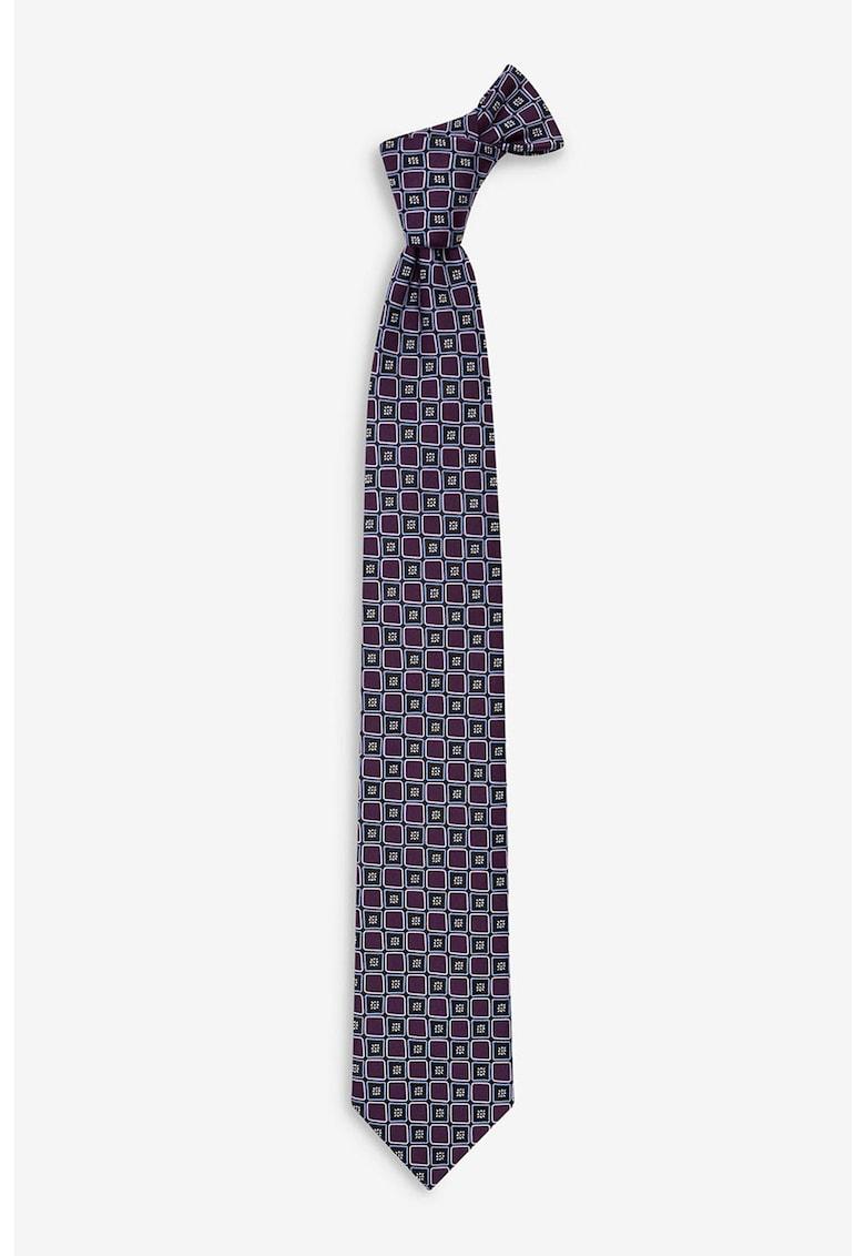 Cravata cu imprimeu grafic