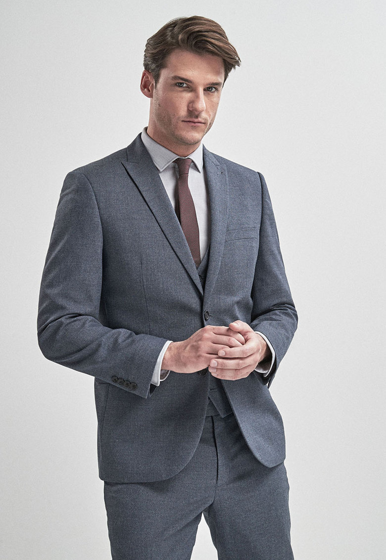 Sacou elegant tailored fit - cu aspect texturat de la NEXT