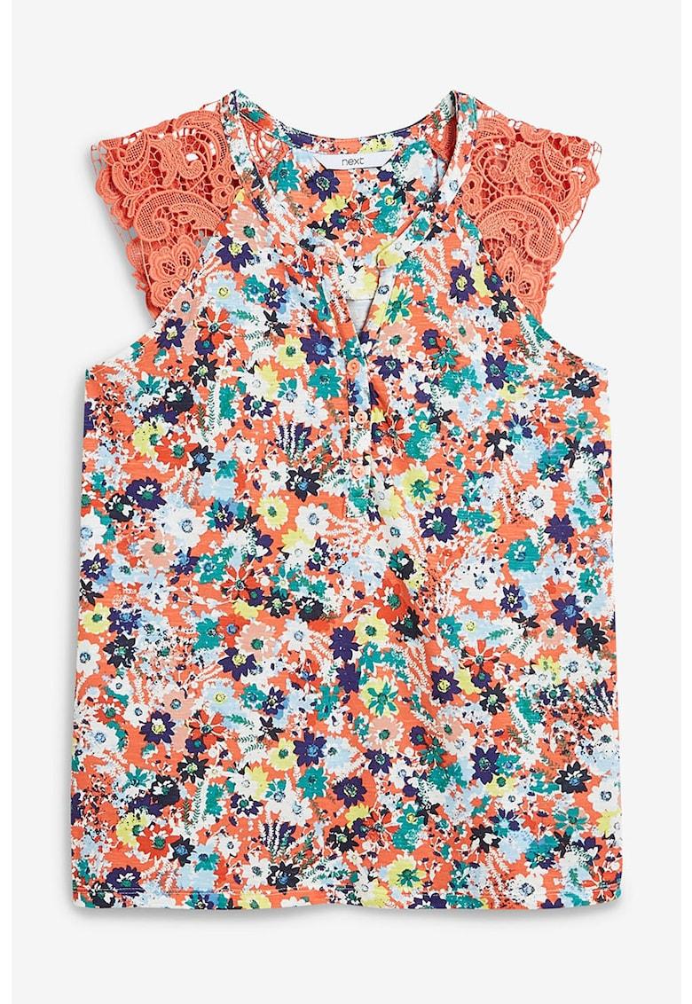 Bluza din amestec de modal - cu imprimeu floral