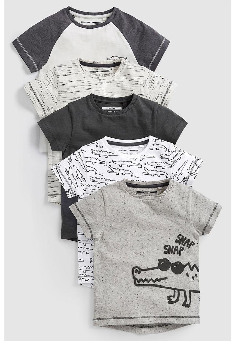 NEXT Set de tricouri cu imprimeuri diverse – 5 piese
