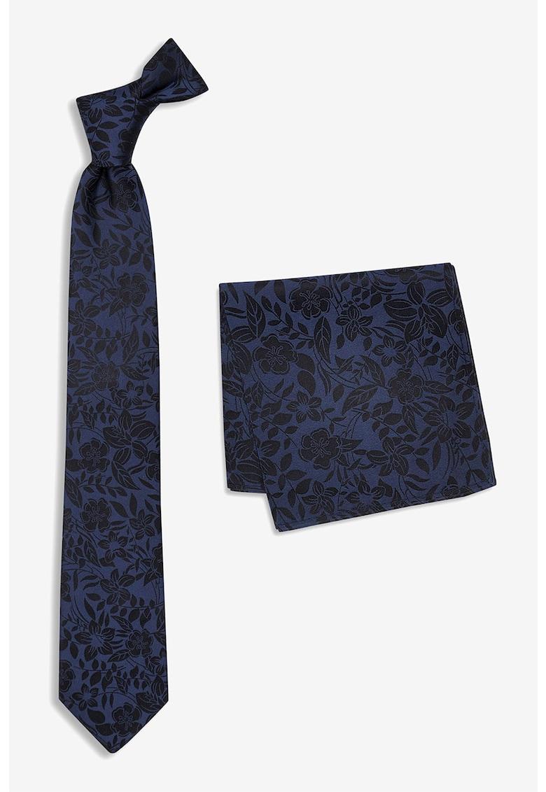 NEXT Set de batista decorativa si cravata cu imprimeu floral