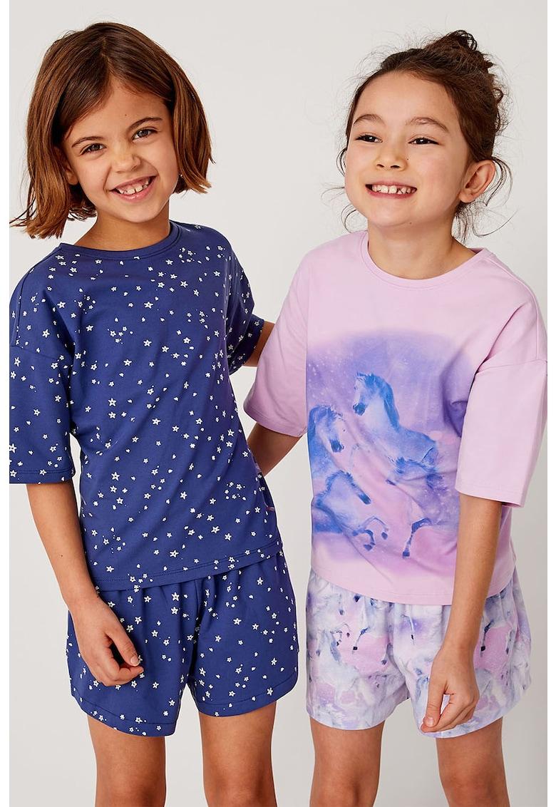 Set de pijama cu pantaloni scurti - 2 perechi