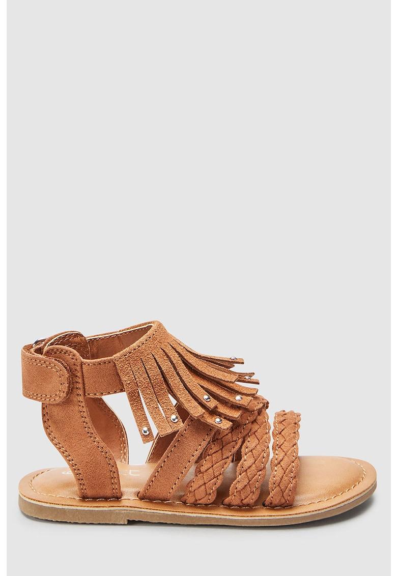 Sandale din material textil si piele intoarsa – cu velcro NEXT