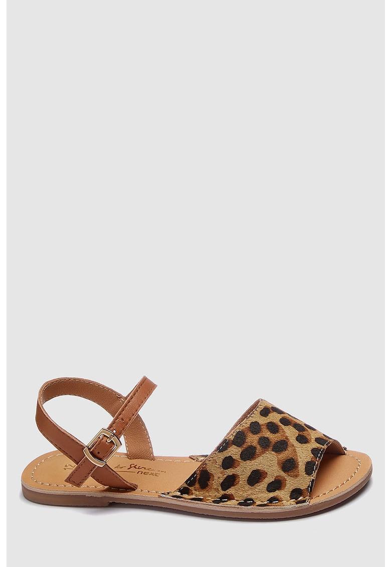Sandale de piele cu varf decupat