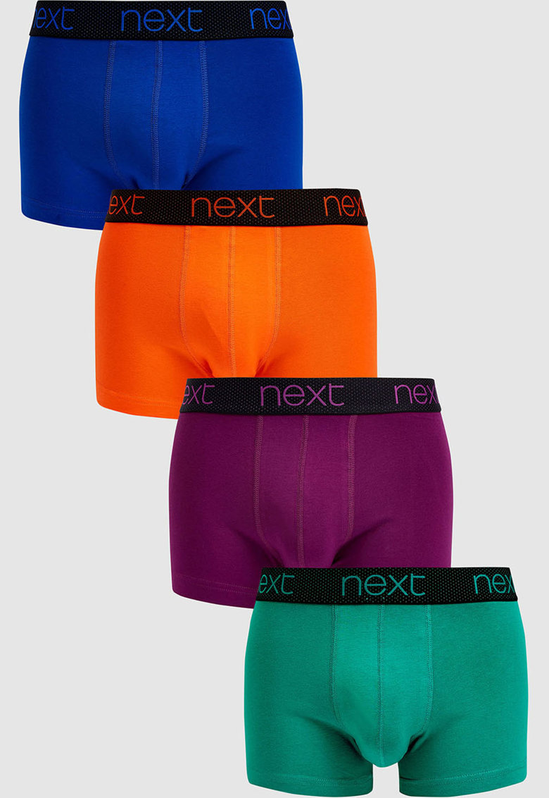 NEXT Set de boxeri cu banda logo in talie – 4 perechi