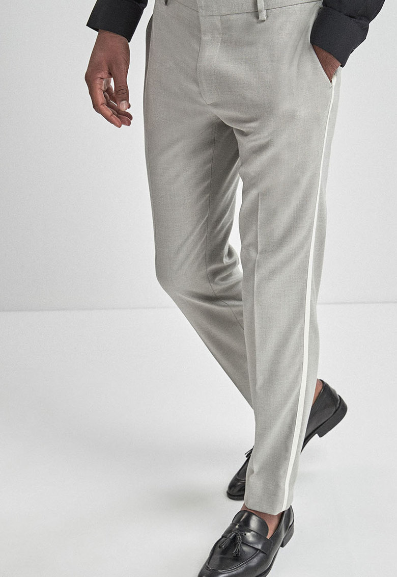 Pantaloni eleganti skinny cu vipusca de la NEXT