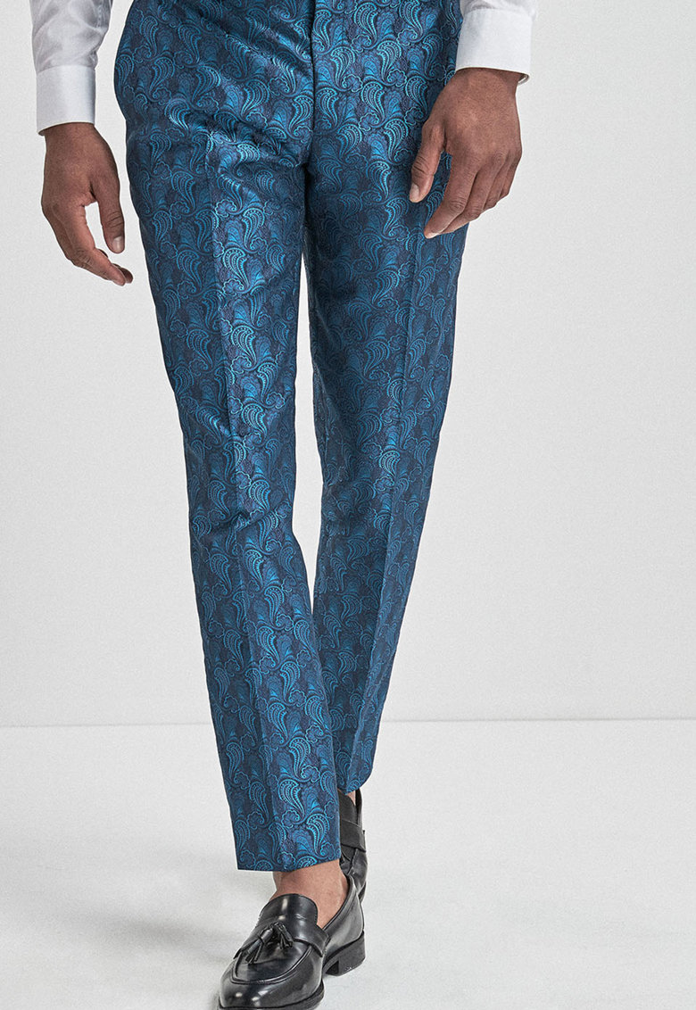 Pantaloni eleganti cu model paisley imagine promotie