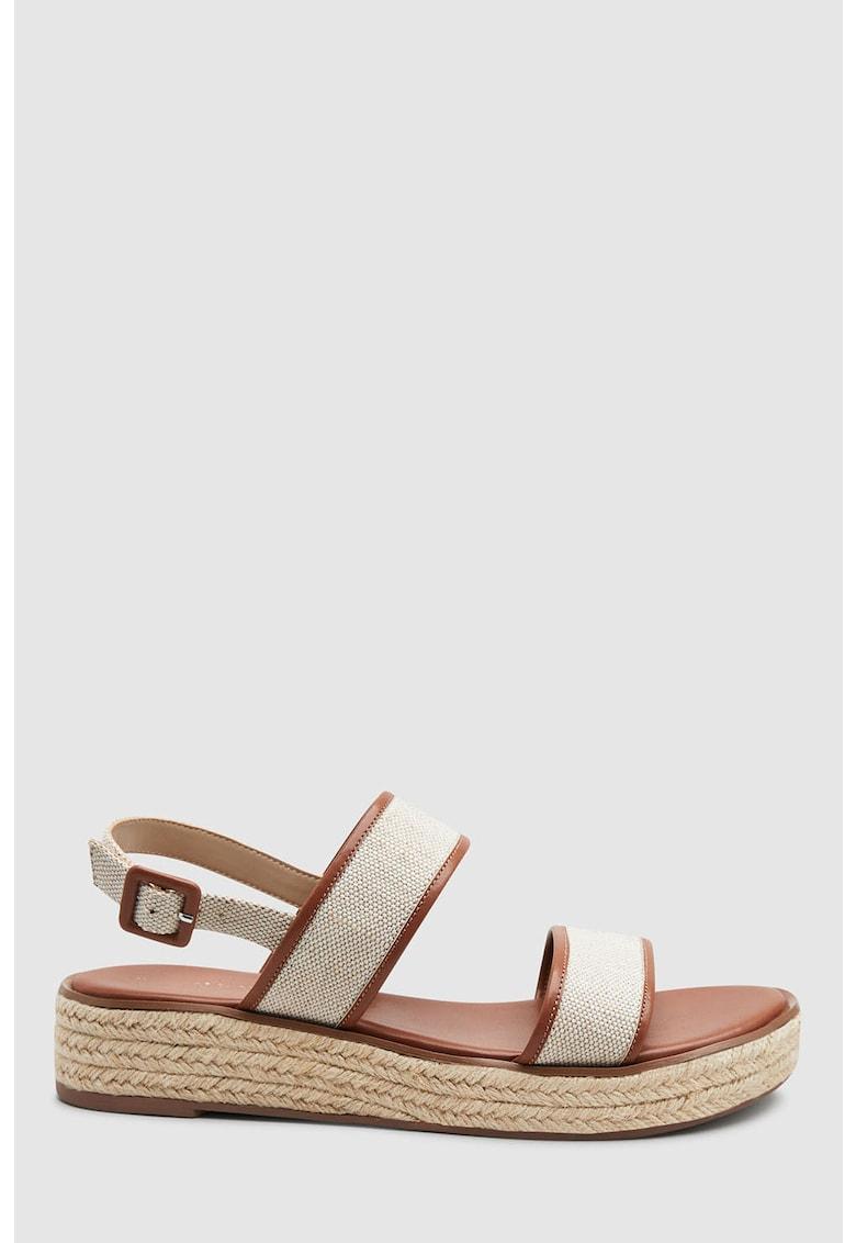 Sandale din material textil cu garnituri de piele ecologica NEXT
