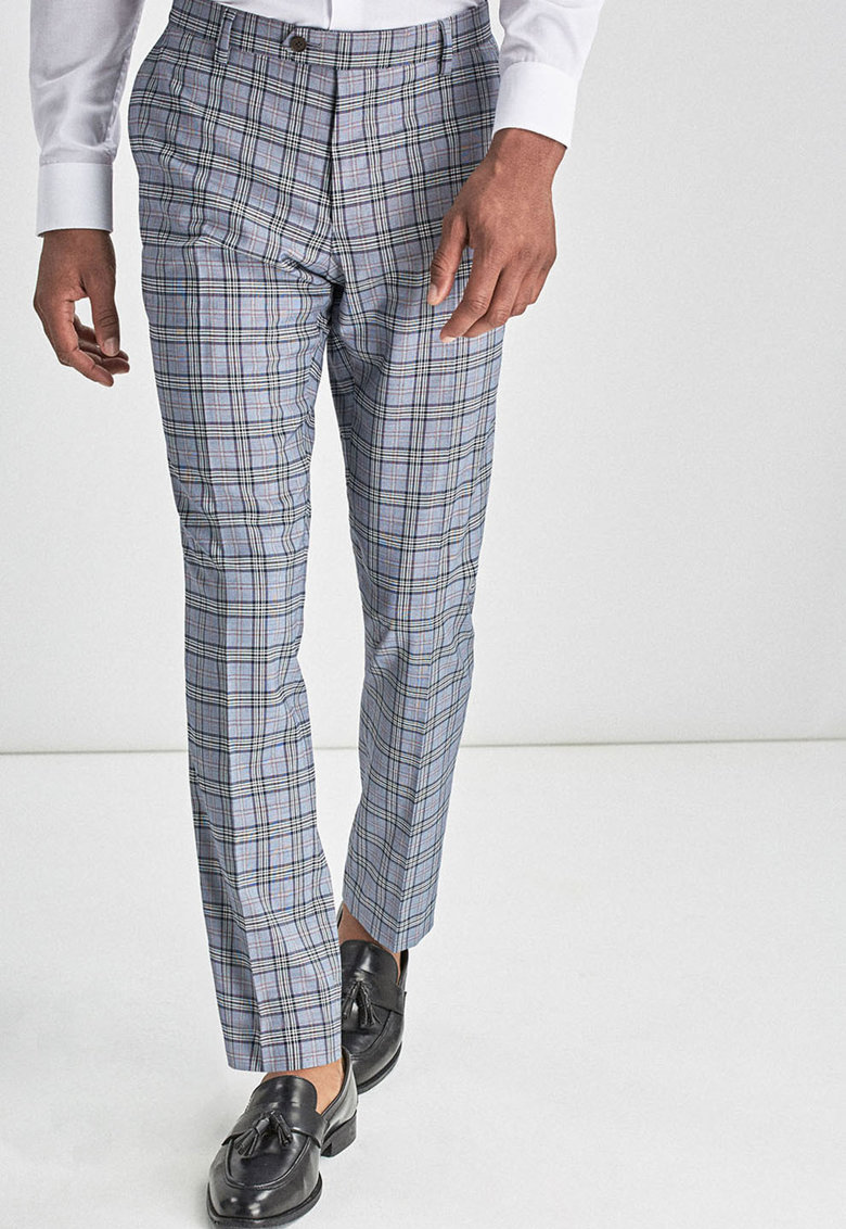 Pantaloni slim fit eleganti cu model in carouri NEXT