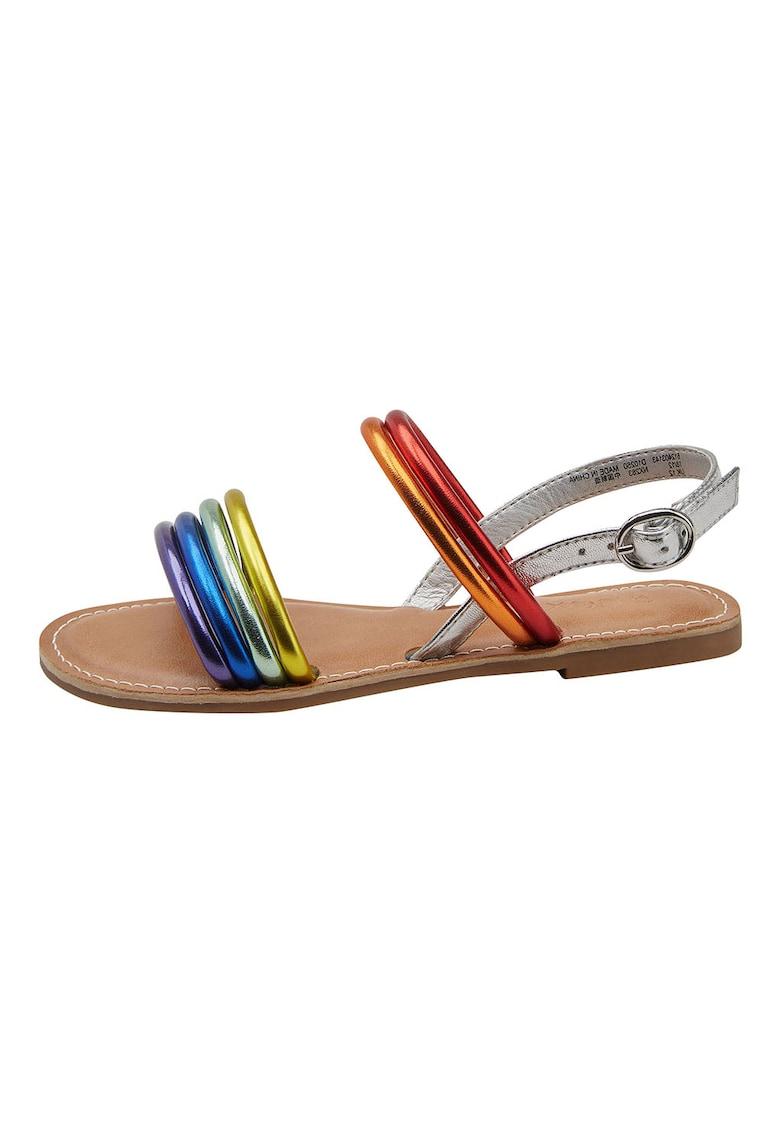 Sandale de piele ecologica – cu aspect metalizat NEXT