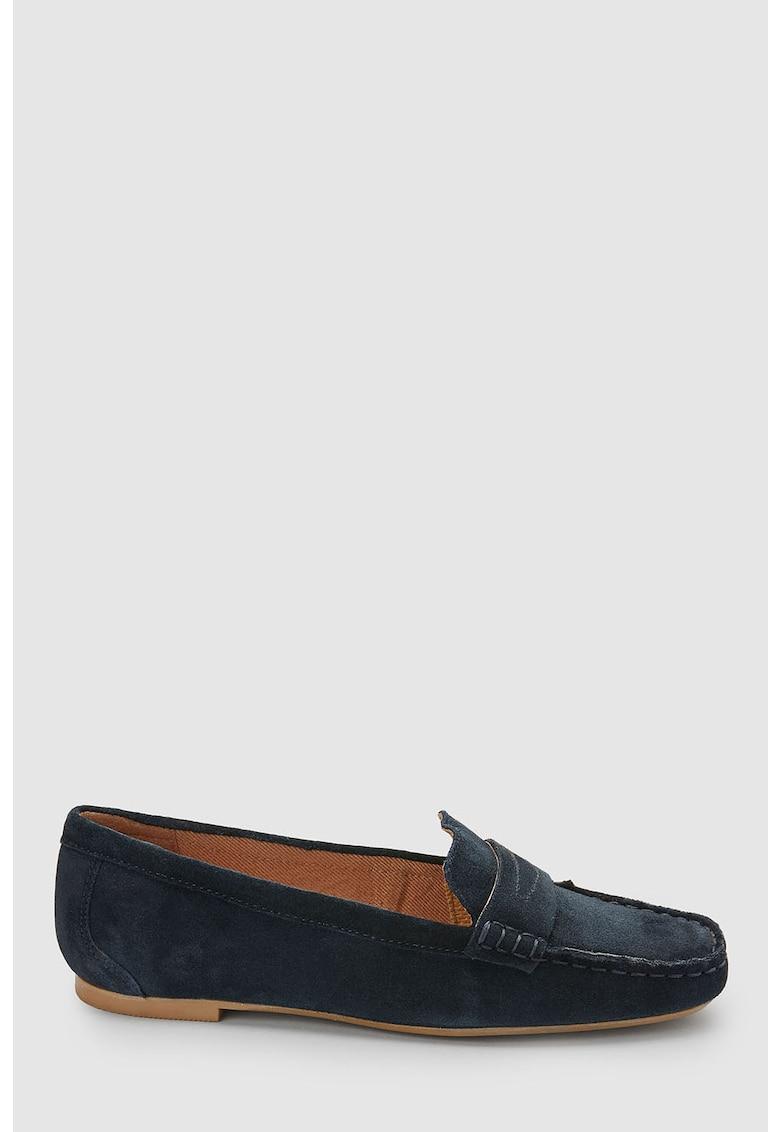NEXT Pantofi loafer de piele intoarsa
