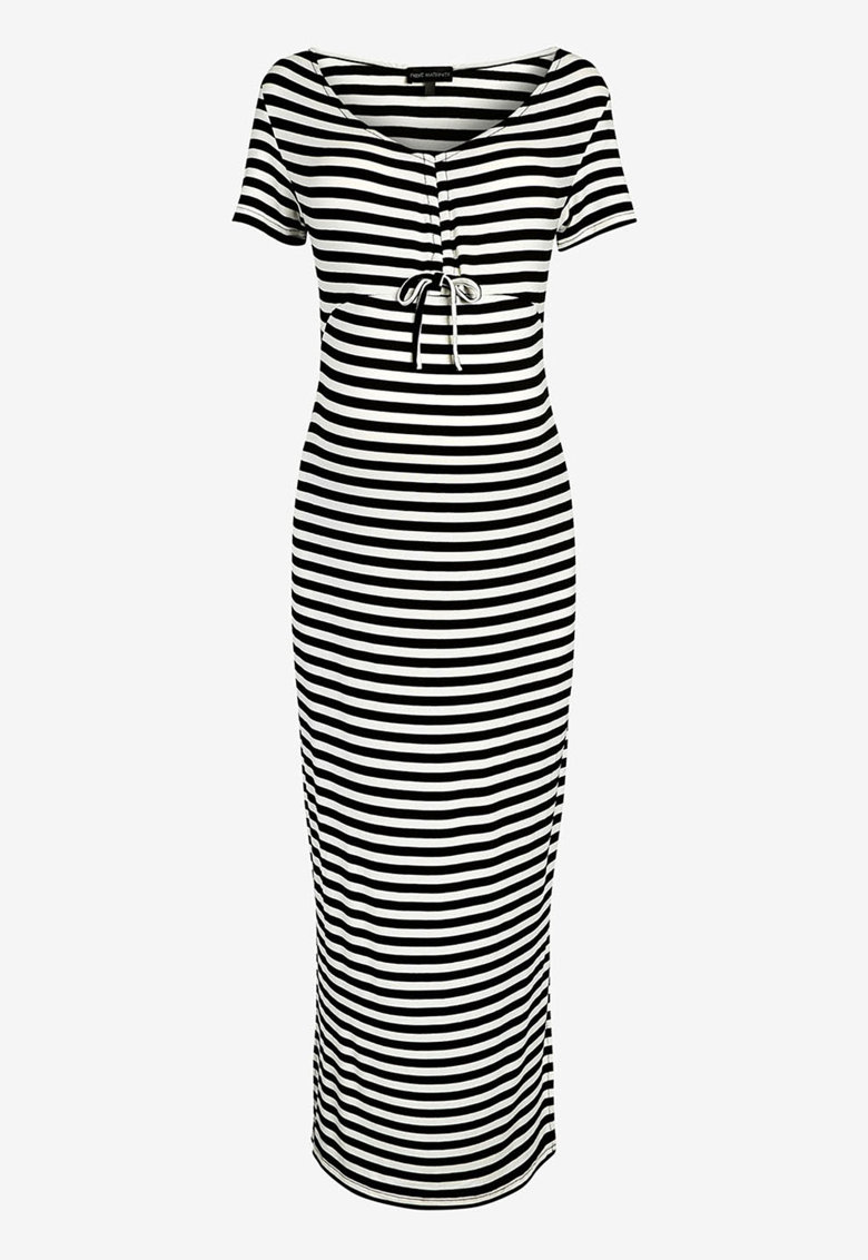 NEXT Rochie cu model in dungi si slituri laterale - pentru gravide