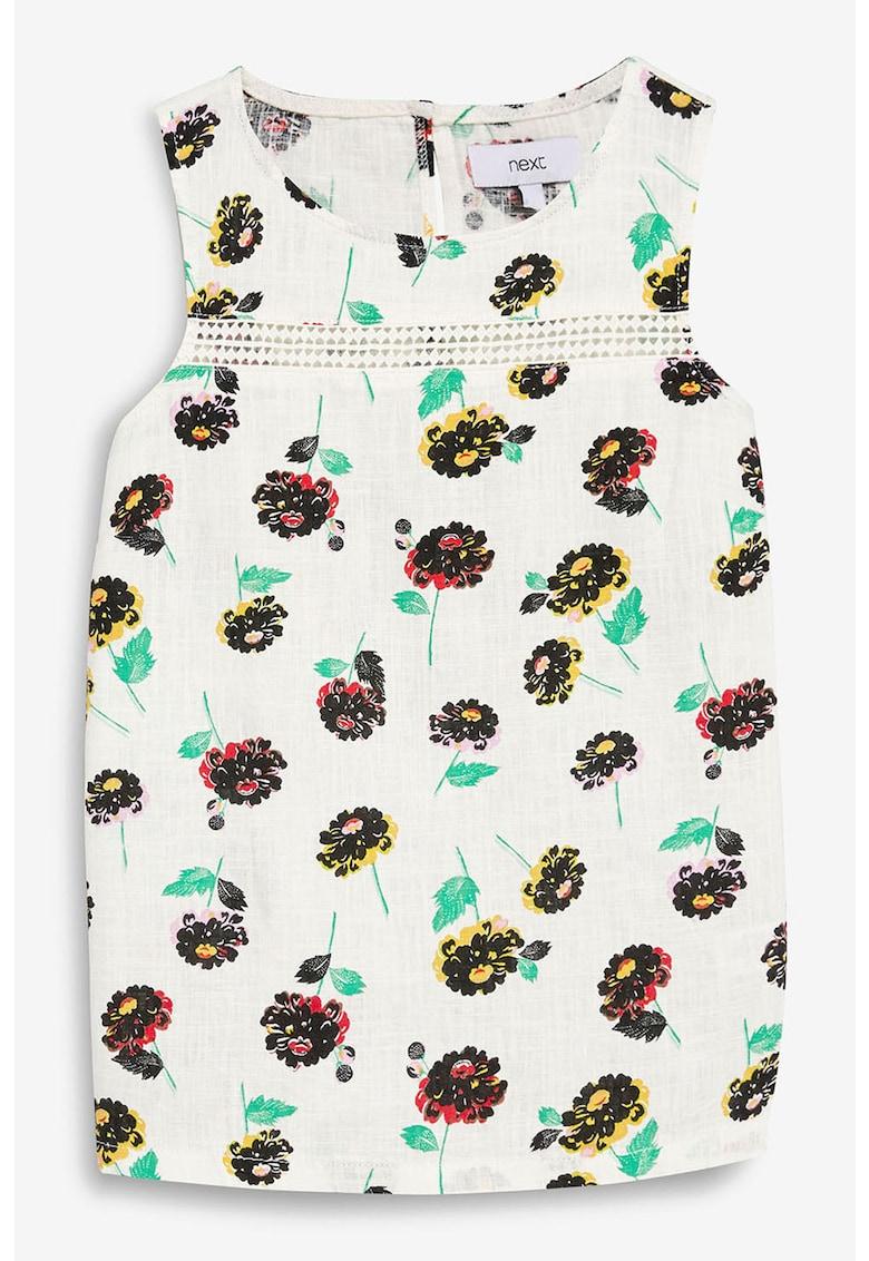 Bluza din amestec de in – cu imprimeu – fara maneci de la NEXT