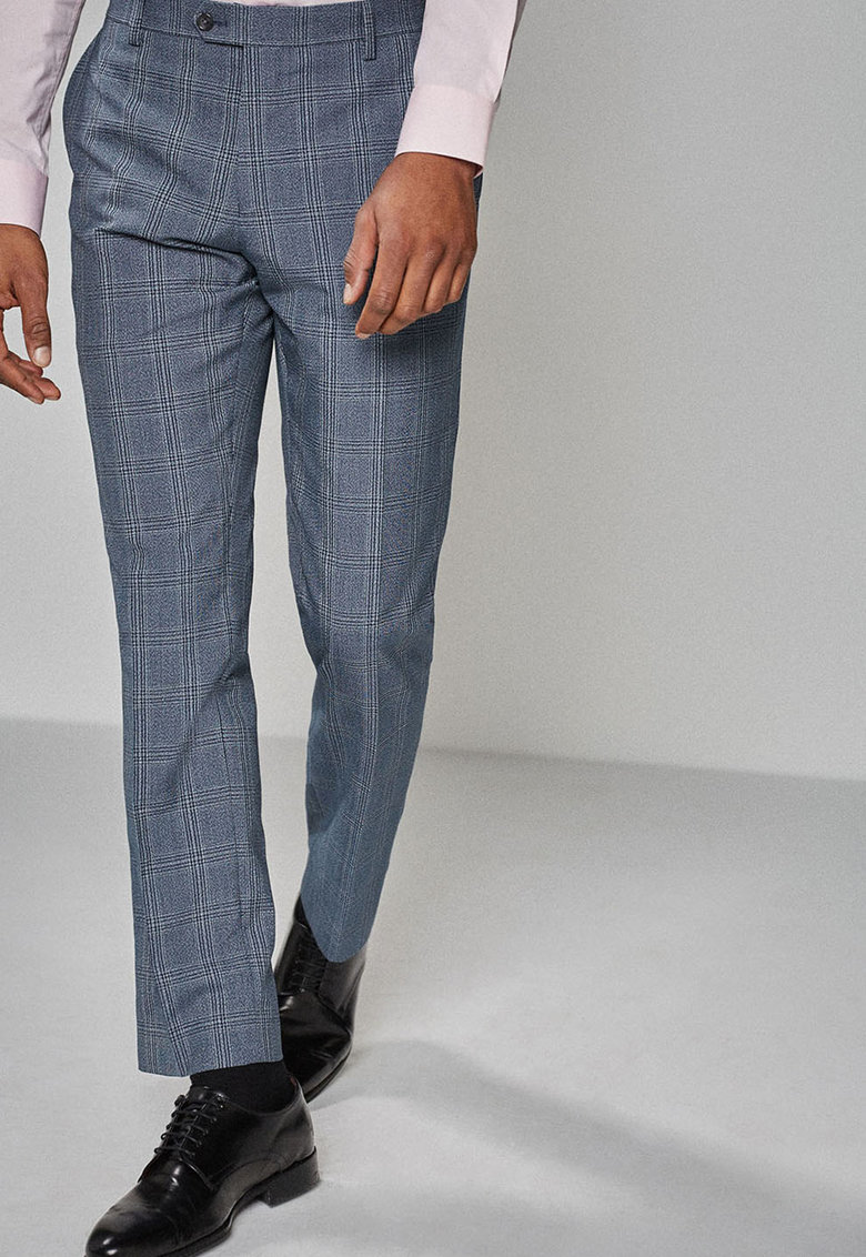 Pantaloni eleganti sim fit – cu model in carouri de la NEXT