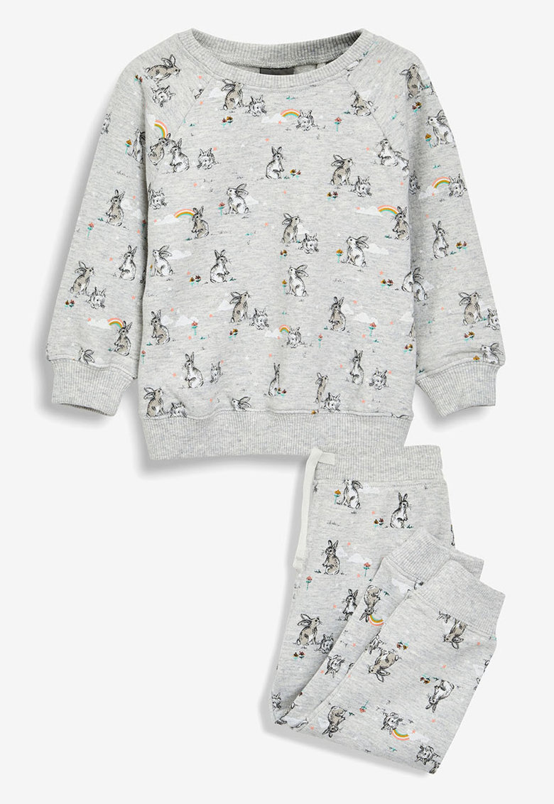 Set de bluza sport si pantaloni sport cu imprimeu
