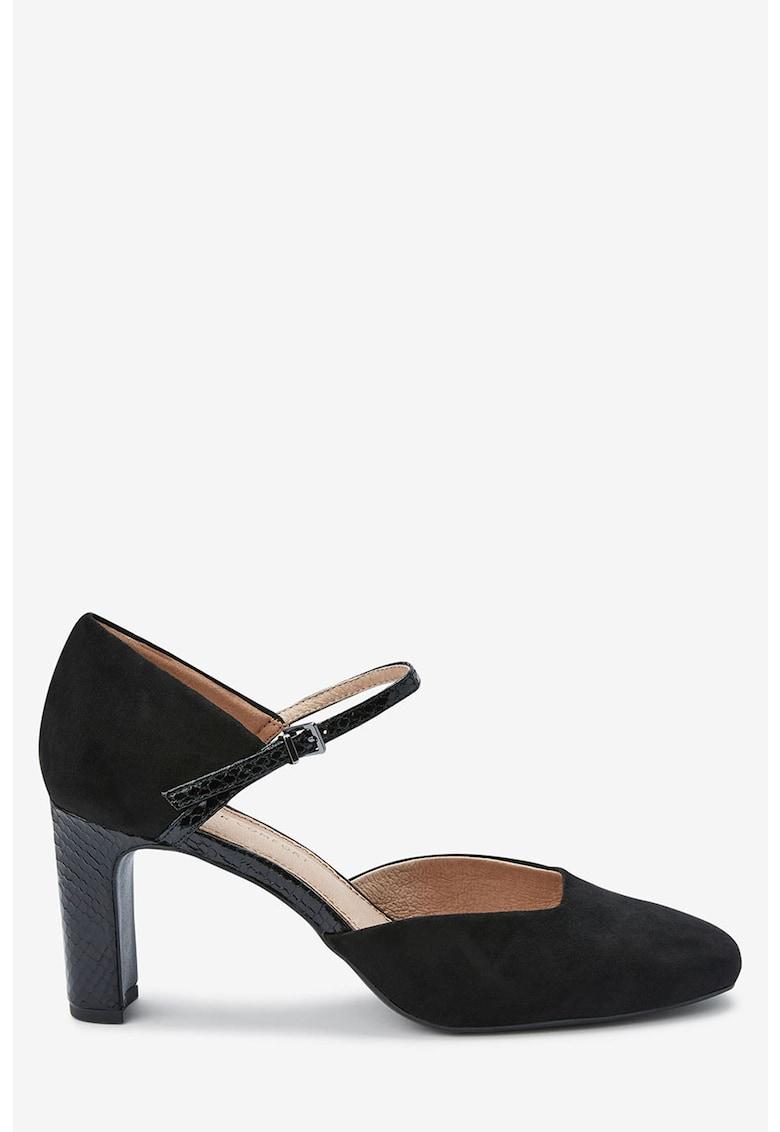 Pantofi Mary Jane de piele intoarsa ecologica de la NEXT