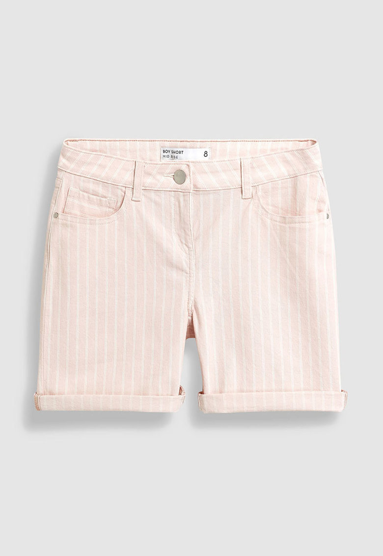 Pantaloni scurti din denim – cu dungi NEXT