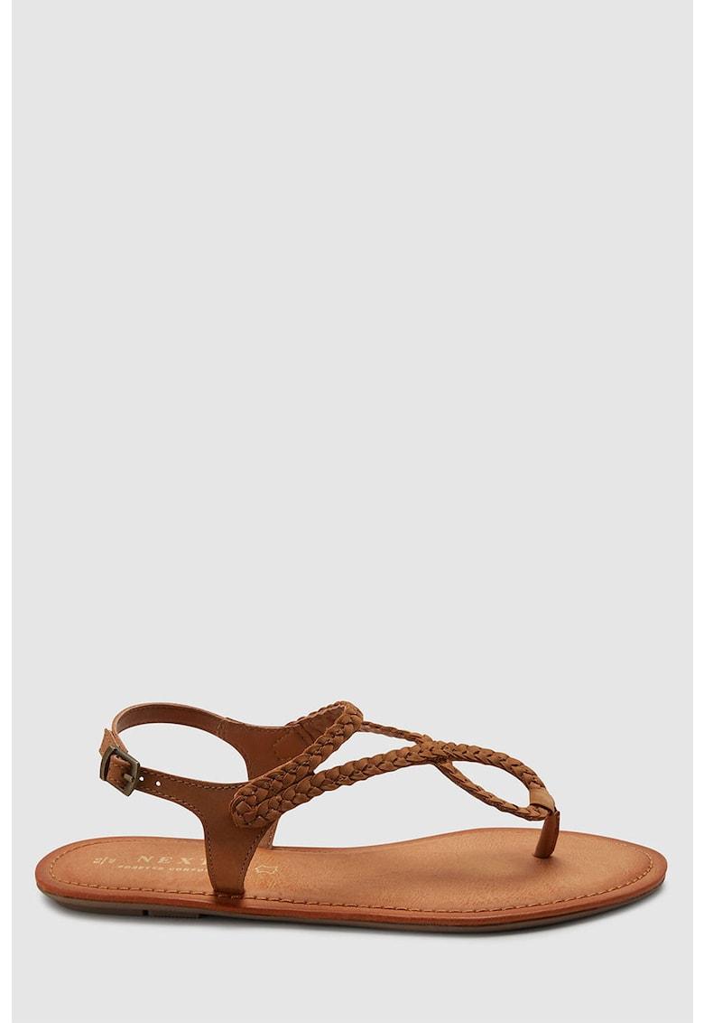 Sandale de piele intoarsa – cu bareta separatoare de la NEXT