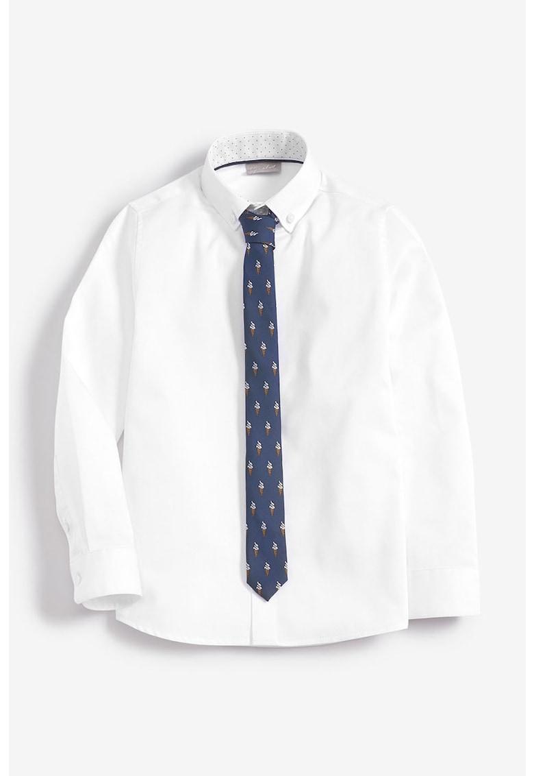 NEXT Set camasa cu guler ascutit si cravata