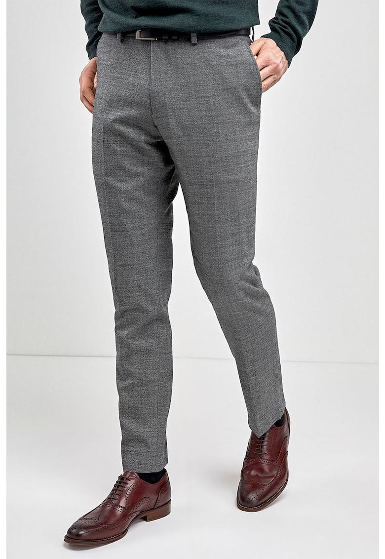 Pantaloni eleganti slim fit din amestec de lana de la NEXT